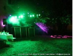 Lichtszene bei Outdoor Party